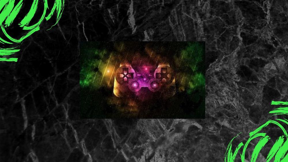 Multicolor Xbox controller wallpaper