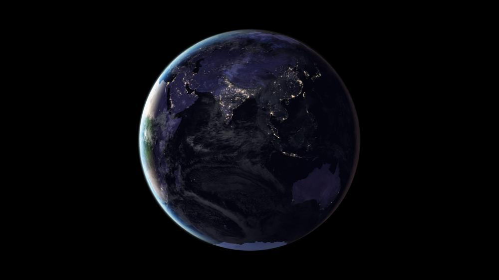 Black Marble 2016: Australia, India & East Asia wallpaper