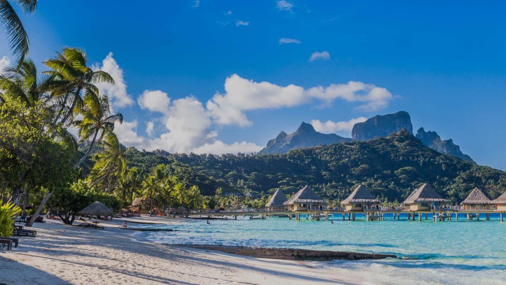Bora Bora tropical landscape wallpaper