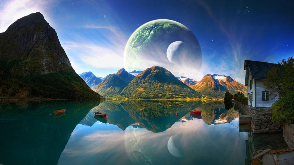 Fantasy Norway landscape wallpaper