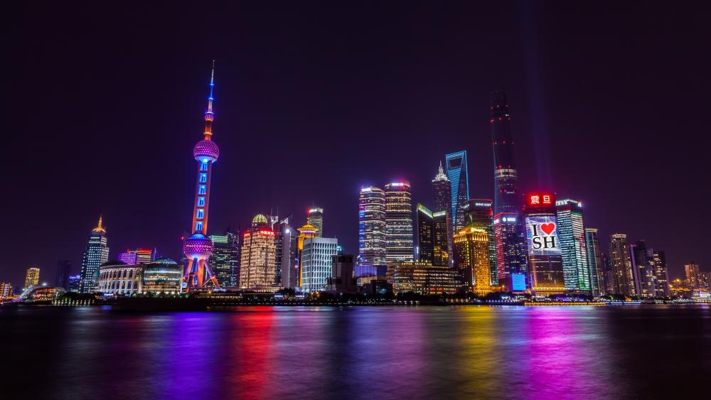 Pudong by night wallpaper