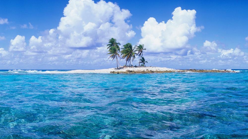 Islet at Tuvalu wallpaper