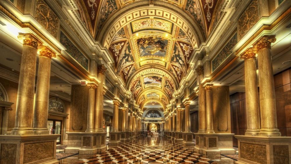 The Venetian interior wallpaper