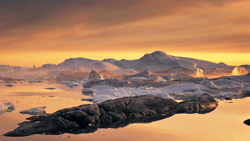 Disko Bay, Greenland wallpaper