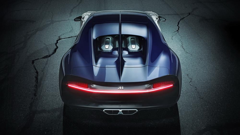 Bugatti Chiron Sport rear view wallpaper