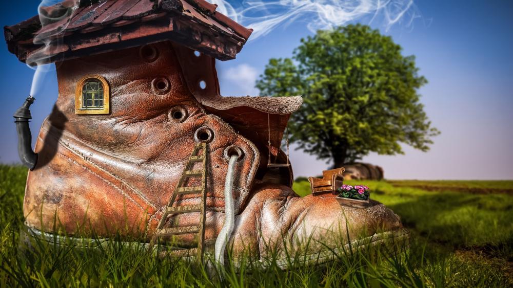 Boot house wallpaper
