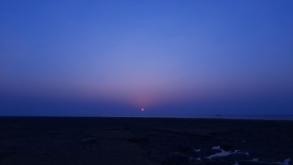 Sunset at North pole wallpaper