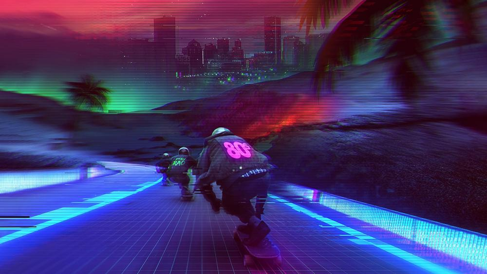 Midnight outrun wallpaper
