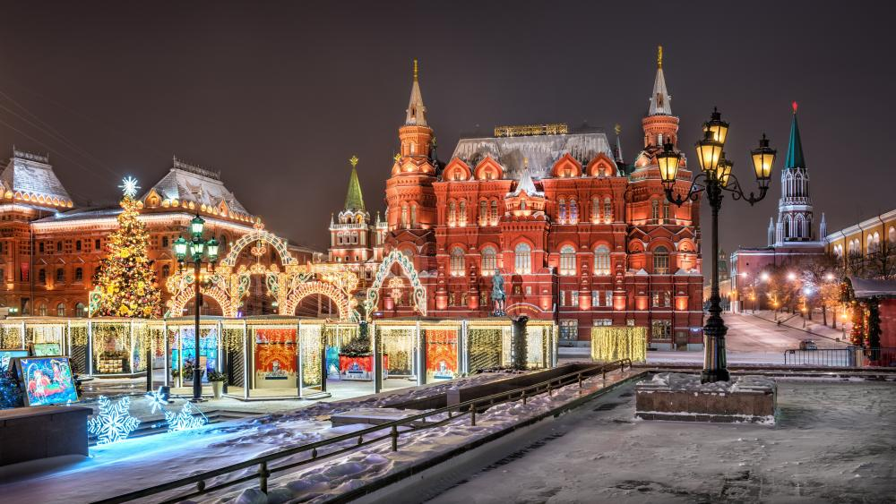 The State Historical Museum in Moscow wallpaper