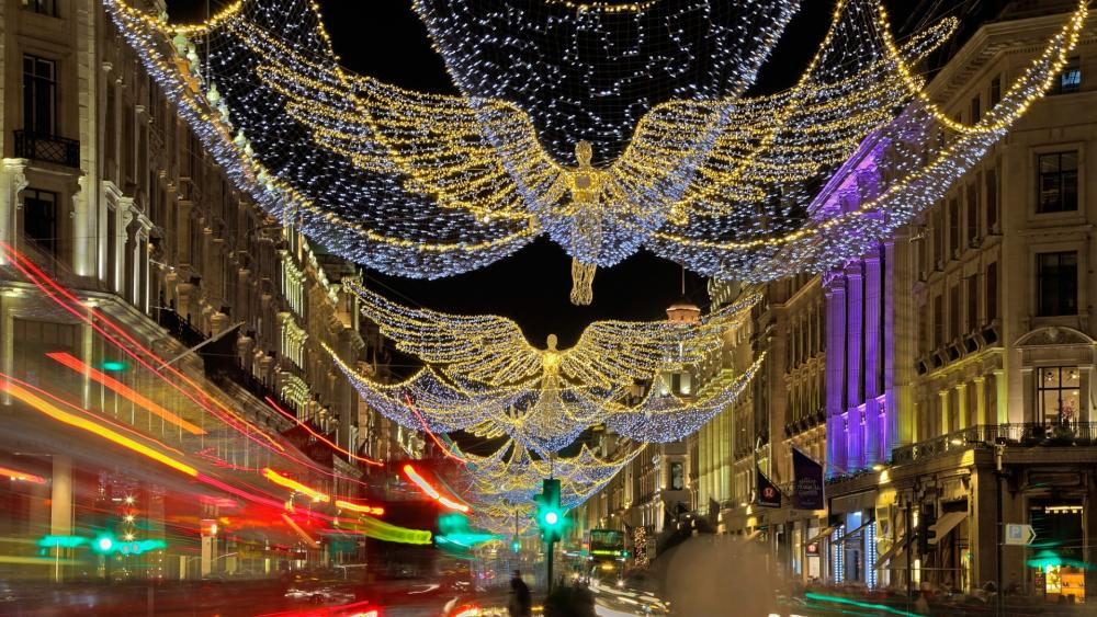 London by Christmas time wallpaper
