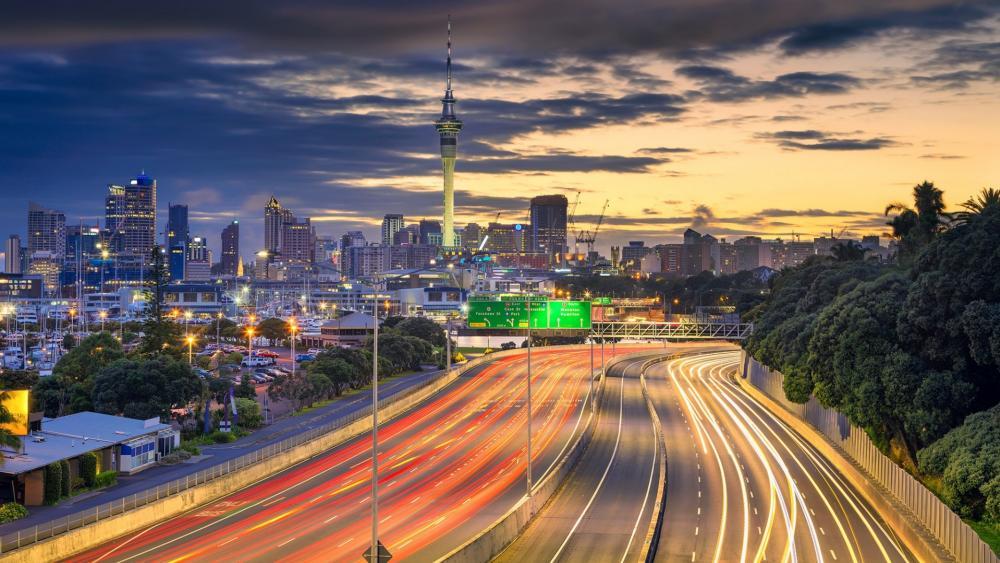 Auckland highway wallpaper