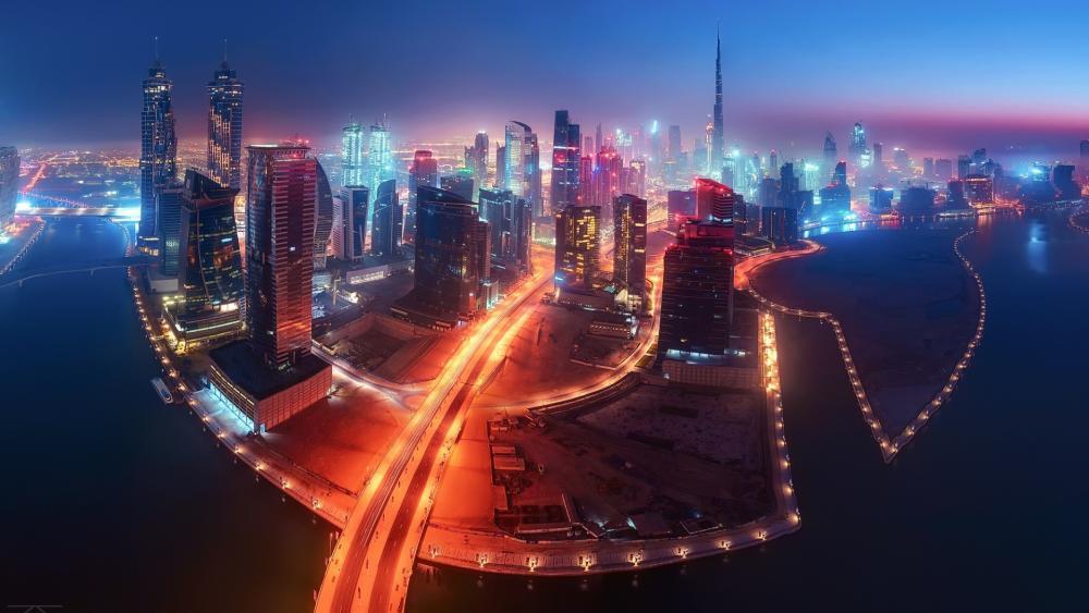Dubai Fisheye photo wallpaper
