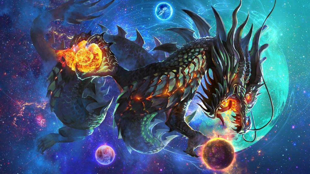 Mystical dragon wallpaper