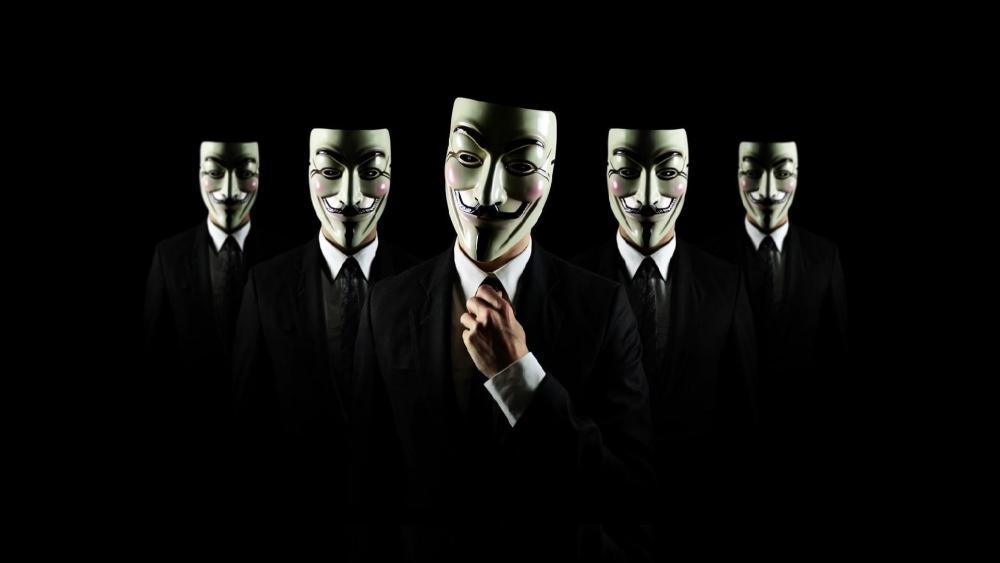 Guy Fawkes masks wallpaper