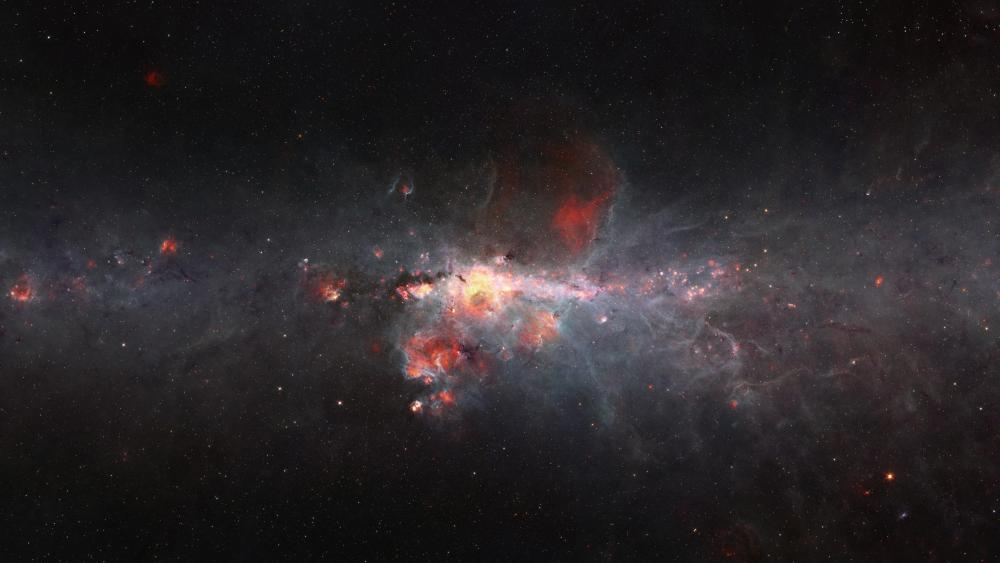 Spitzer Image of the Milky Way Galactic Center wallpaper