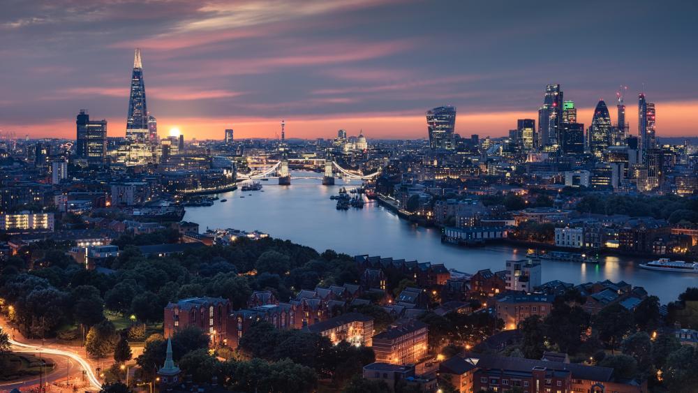 London skyline wallpaper