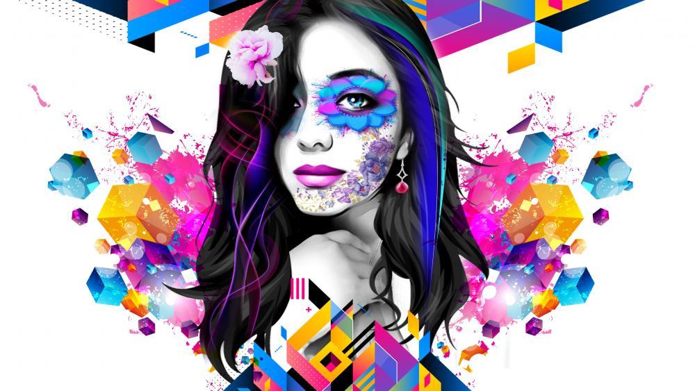 Abstract Girl wallpaper