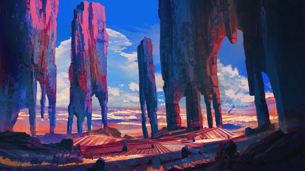 The pillars wallpaper