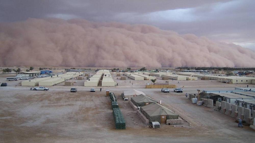 Sandstorm in Al Asad wallpaper