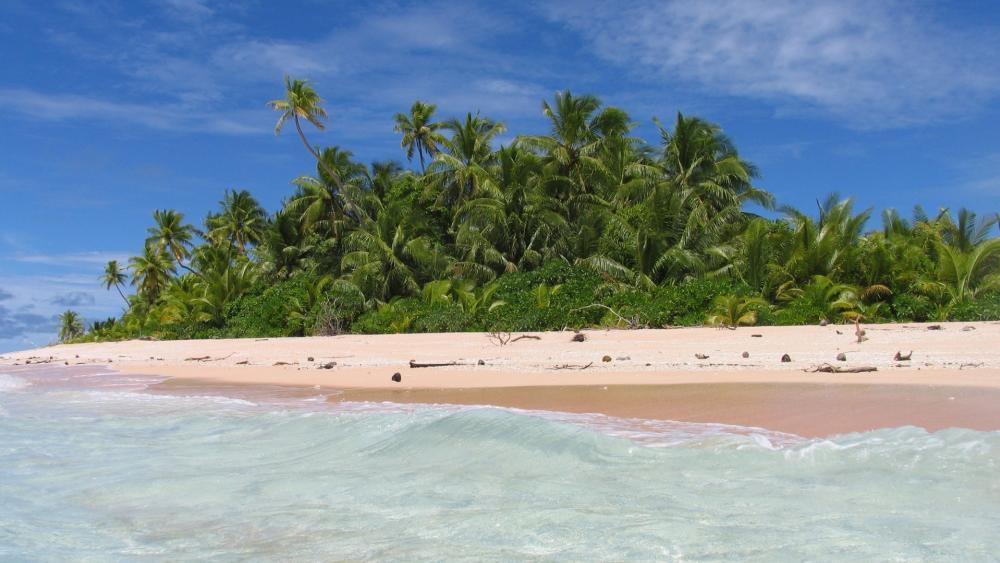Summer vacation in Tuvalu wallpaper