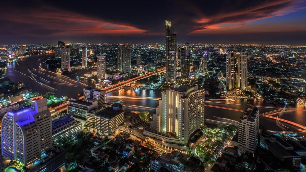 Bangkok by night wallpaper