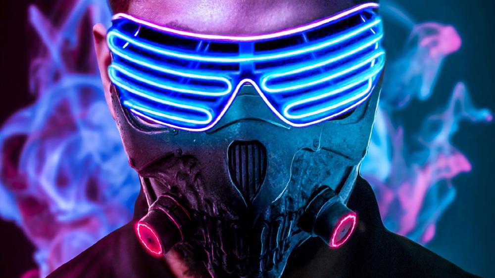 Led mask wallpaper