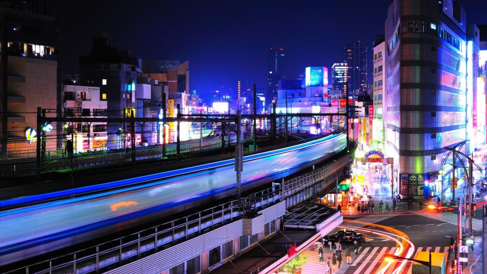 Night in Tokyo wallpaper