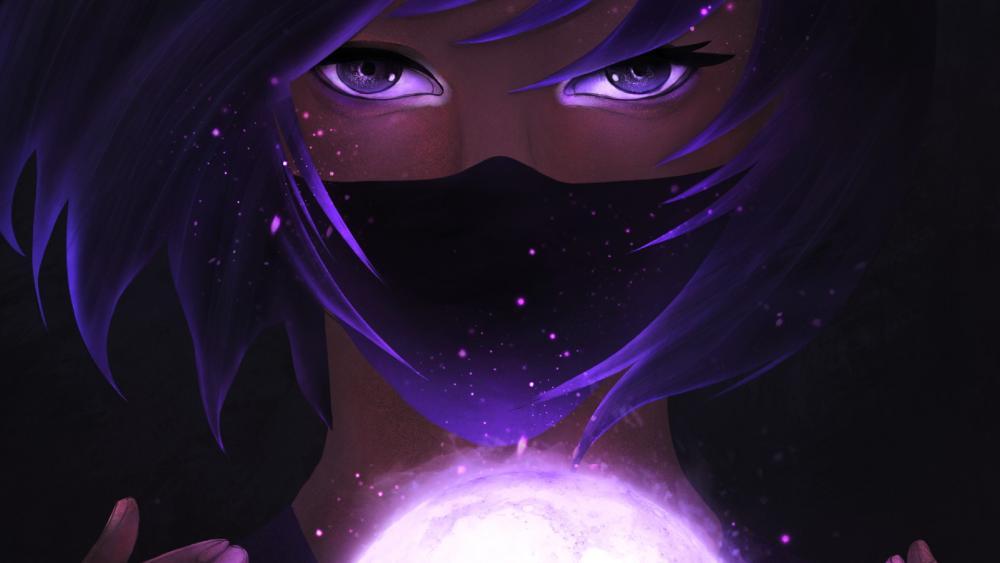 Purple Eyes wallpaper