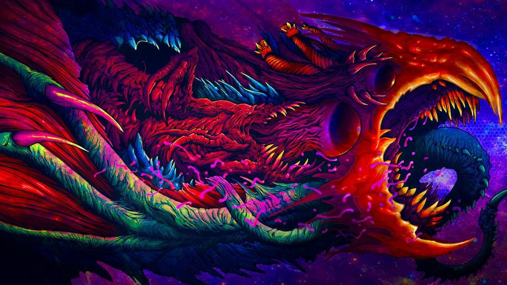 Psychedelic dragon wallpaper