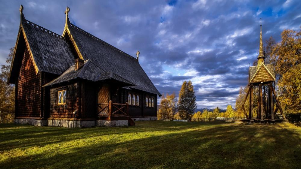 Kvikkjokk Church, Sweden wallpaper