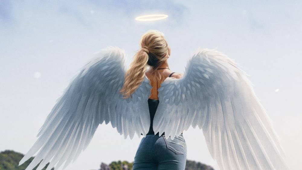 Angel girl wallpaper