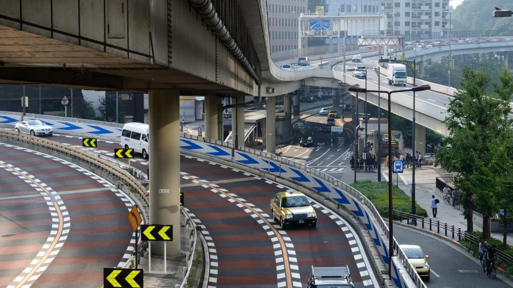 Akasaka-Mitsuke Junction in Tokyo wallpaper