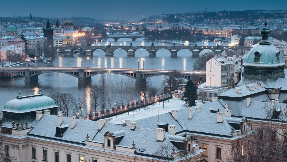 Bridges of Prague wallpaper