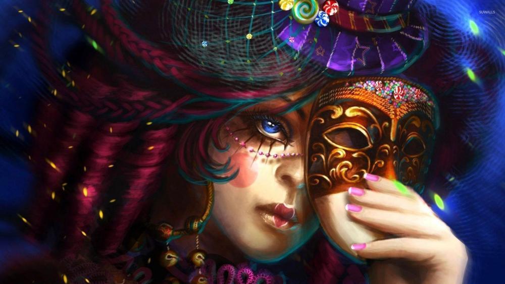 Carnival girl wallpaper