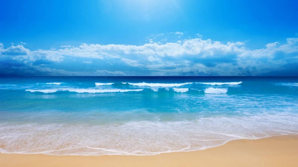 Cuban sandy beach wallpaper