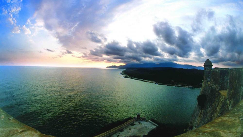 Fort Overlooking Bay In Santiago Cuba wallpaper