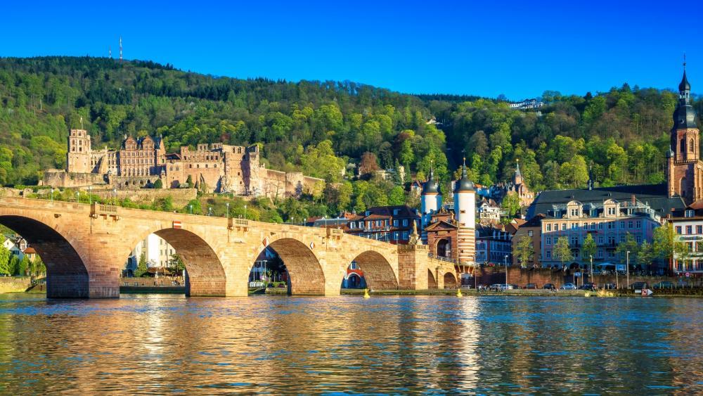 Heidelberg Old Bridge wallpaper
