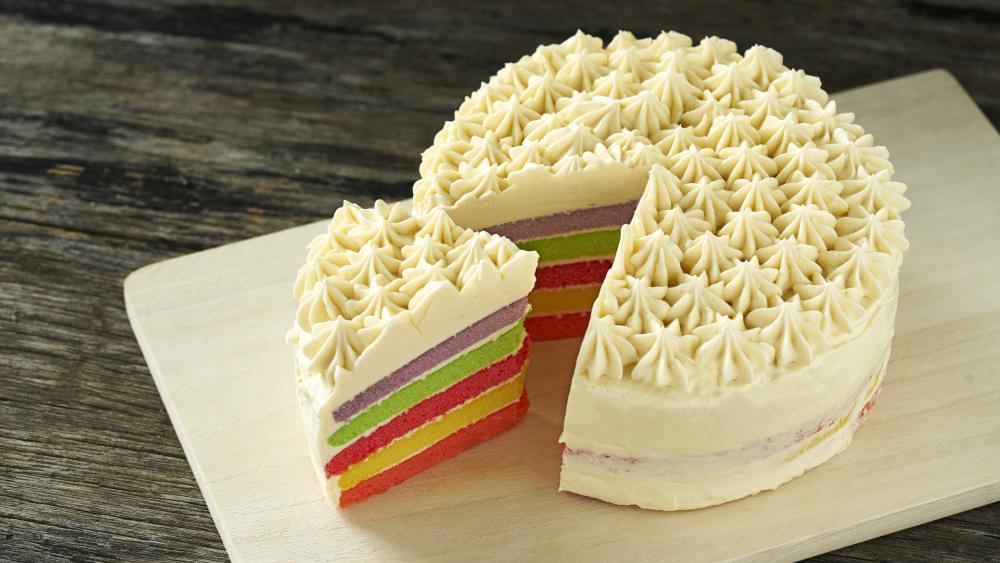 Colorful cake wallpaper