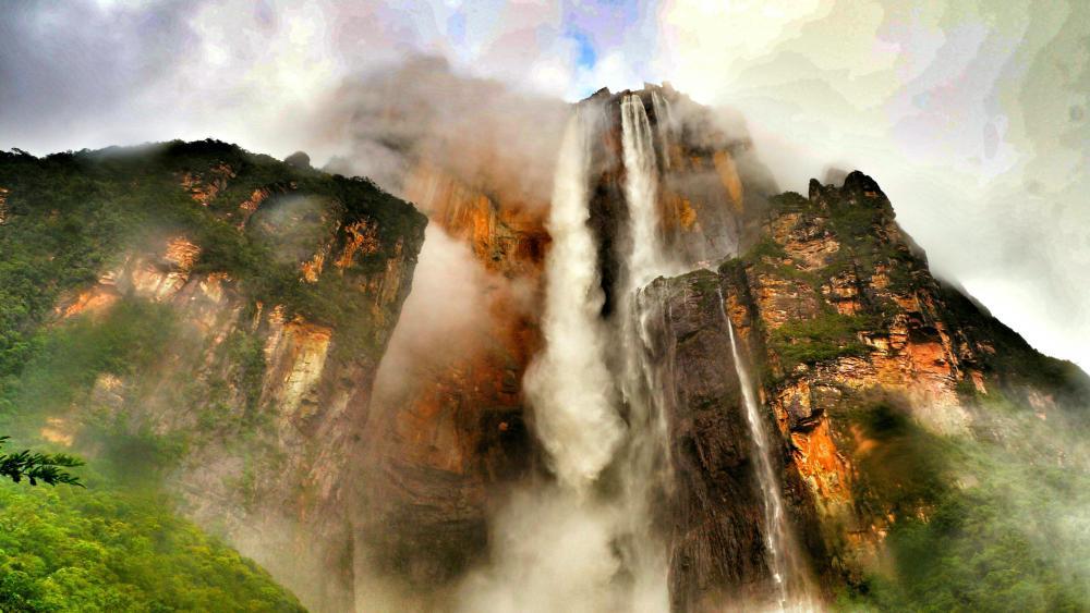Angel Falls, Mt. Roraima wallpaper - backiee