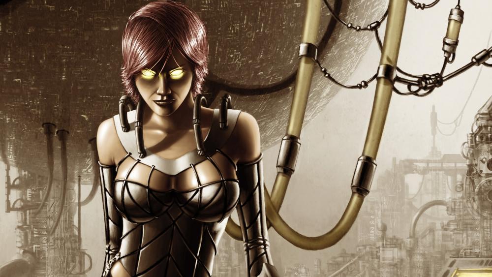 Cyborg lady wallpaper