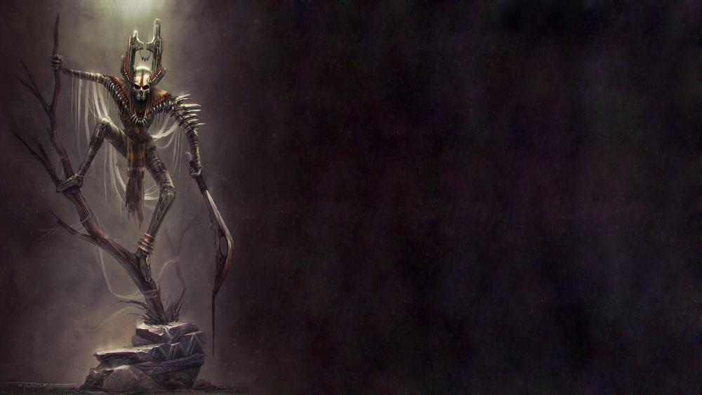 Evil skeleton wallpaper