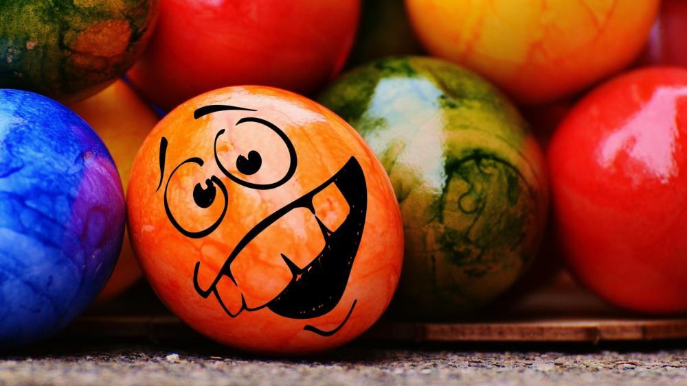 Funny easter egg wallpaper