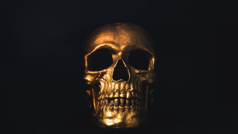 Gold skull wallpaper