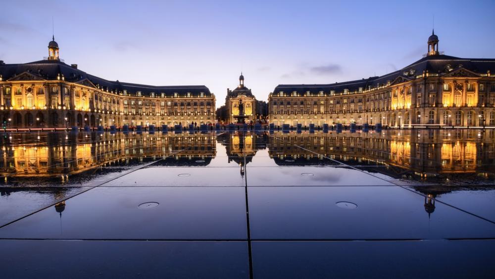 Le Miroir d'eau, Place de la Bourse wallpaper