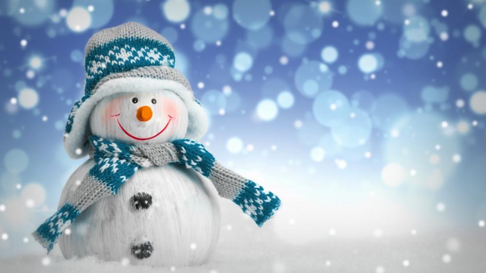 Blue snowman wallpaper