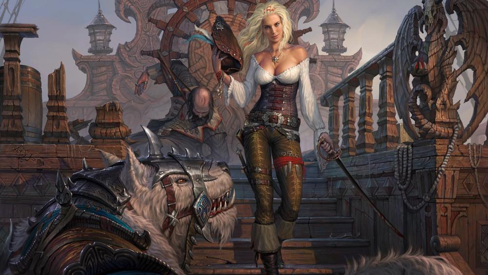Pirate woman wallpaper