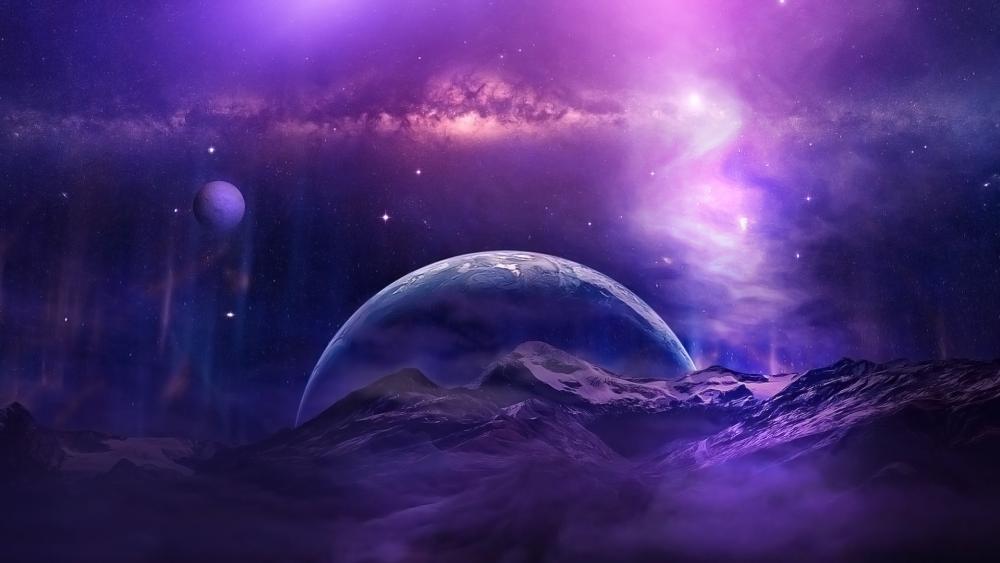 Purple universe wallpaper