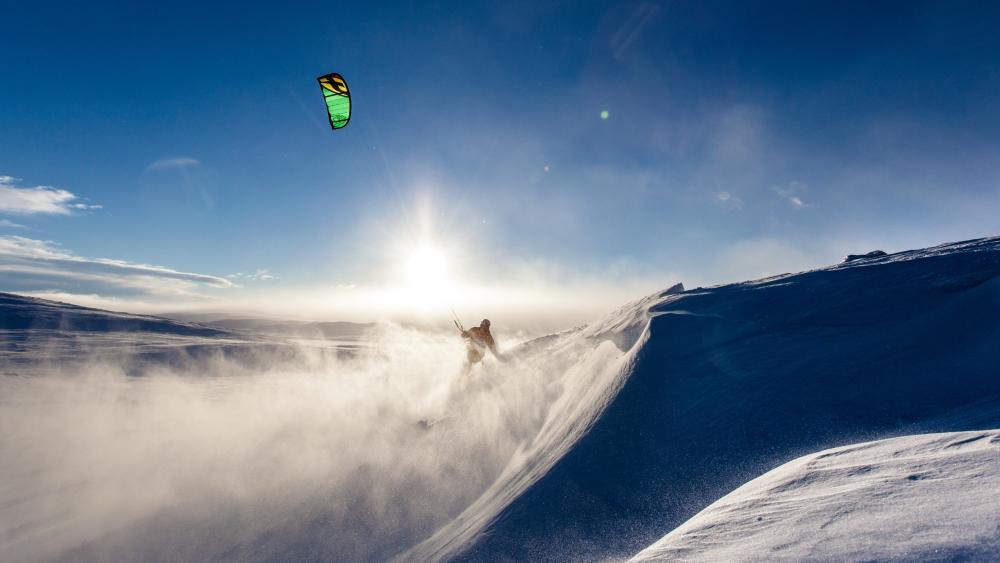 Snowkiting wallpaper