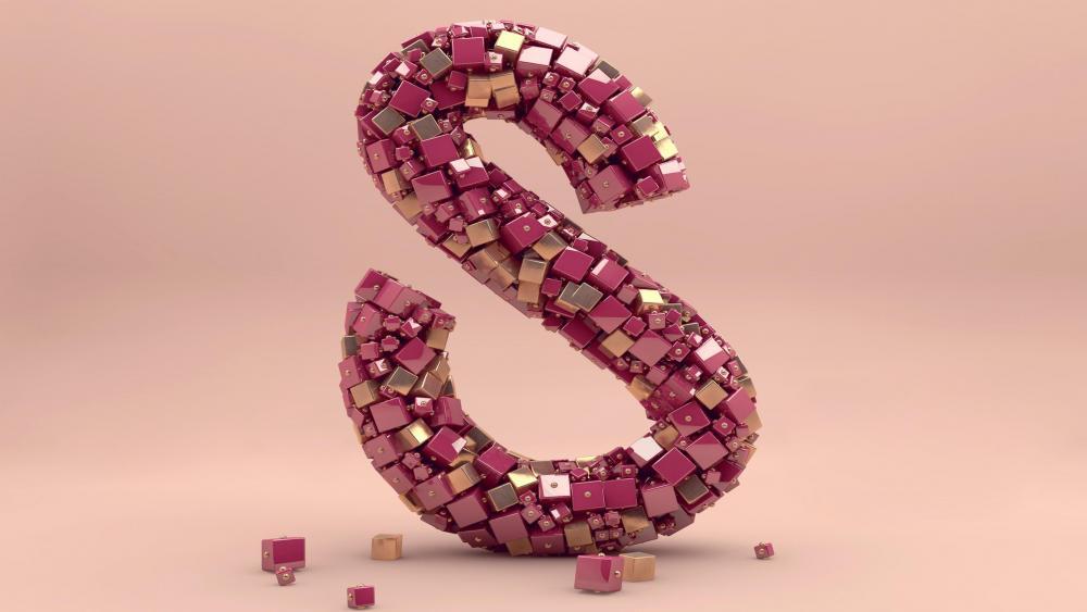 3d S letter wallpaper