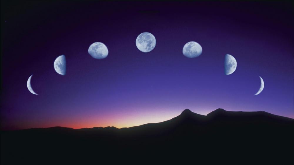 Lunar phases wallpaper